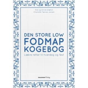 Den store low FODMAP kogebog af Charlotte Tønnes Jensen, kan købes i direkte klinikken, hos boghandlere og via nettet.